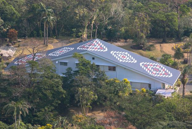 龍郷柄の屋根